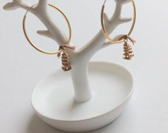 tower hoop earrings
