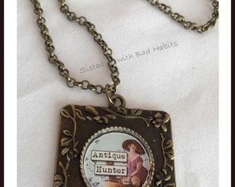 Antique Hunter Necklace