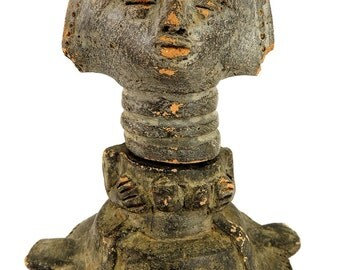 Akan/AsanteTerracotta Container in Two Parts Ghana Africa 91902