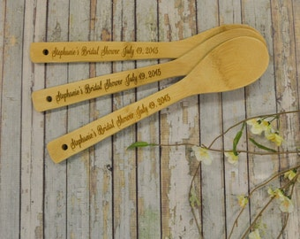 Single Bamboo Spoon, Wedding Shower, Bridal Shower, Kitchen Shower, Chili Cook-Off SP0800