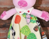 Ready to Ship Adorable Pig Lovey Soft Fleece Blanket  and it is Washable too. You have options to choose from in the Style menu.