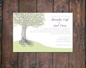 Bikes Under a Tree Invite