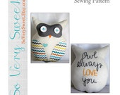 PAPER Sewing Pattern: Owl Always Love You--Plush Owl Lovey--Paper Pattern