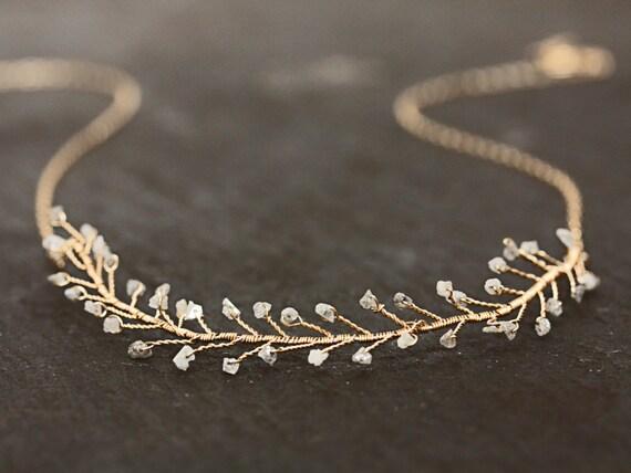 Rough Cut Diamond Necklace