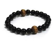 Black Obsidians Mens Mala Beads Men Bracelet Mantra Wood Bead Yoga Buddhist Worry Beads Chakra Bracelet Prayer Grounding Protection Bracelet