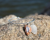 Amalfi Coast Inspired Sea Glass and White Italian Sea Pottery Bracelet