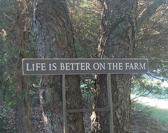 Life Is Better On The Farm Large Wood Sign
