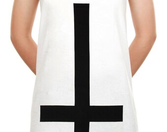 Inverted Cross Shirt Jesus Christ Symbol Hipster Upside Down Cross Tank Top Women Shirt Tunic Top Sleeveless Tank Top Size M,L,XL - IZJWT78