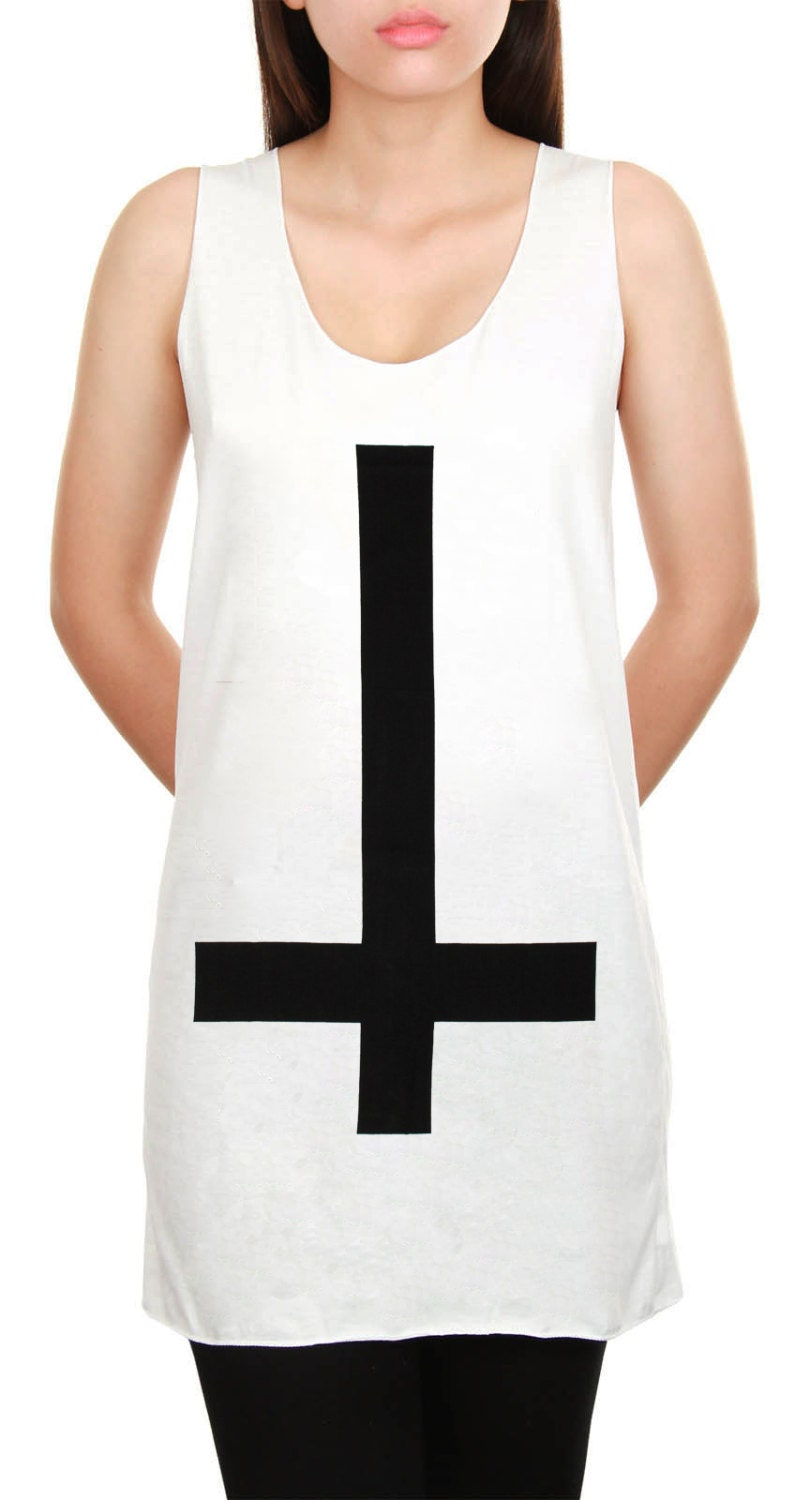 Inverted cross shirt jesus christ symbol hipster upside down zoom buycottarizona