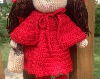 Crocheted doll