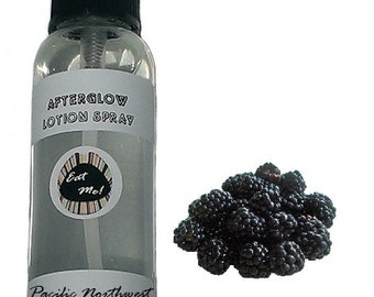 Afterglow™ Lotion Spray - Pacific Northwest Blackberry Natural Vegan Skin Care Scented Body Moisturizer with Aloe by Eat Me