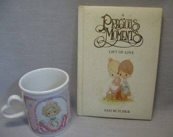 Precious Moments Cup You Have Touched So Many Hearts & Book Gift Of Love Book 1989-1996