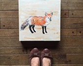 Detailed Fox Art 12x12 by MyImaginationIsYours