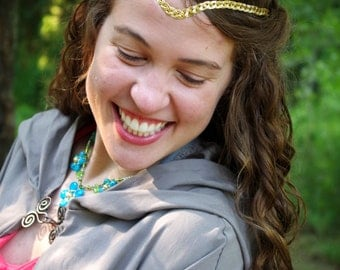 Gold Braided Wire Circlet