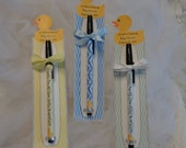 Reserve for 30-Personalized Baby Shower Favors-Chevron Covered Pens