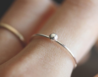 Pebble Ring    Sterling Silver Ring Pebble Dainty  Ring
