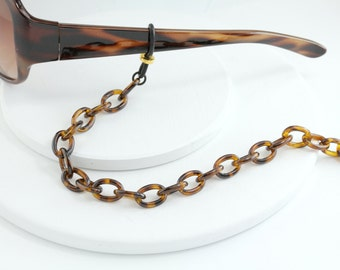 Tortoise Shell Eyeglass Chain - Tortoise shell Eyewear Chain, Tortoise Shell Eyeglasses Accessories - Tortoise shell Eyeglass Necklace