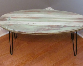Surfboard End Table, Kids Table, Night Stand, Coffee Table, Bench