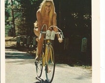 1972 Advertisement Landlubber Clothes Nude Naked Blonde Girl Riding Bike 10 Speed Fashion Style Wall Art Decor