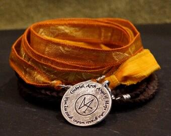 Arch Angel Gabriel/ Warrior Wrap/Bracelet/necklace/ givingthroughjewelry/ ALCCREATIONS