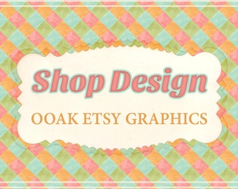 Custom banner, OOAK Etsy shop banner, Sold once, Custom Etsy Graphics, Premade shop set, Shop banner