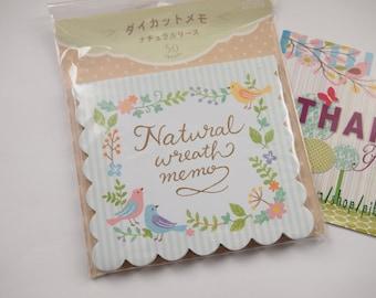 Natural Wreath Die Cut Memo Paper (non-sticky) - 32543