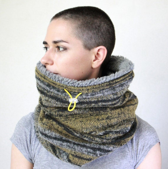 Snock® cowl scarf fur cowl winter cowl faux lamb lined cowl