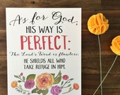 His Way is Perfect  Print - Psalm 18:30 - Encouragement & Inspirational