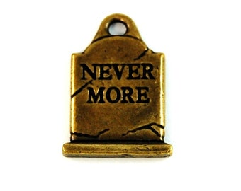 Halloween Charm TierraCast Brass Oxide (plated) Grave stone
