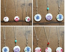 Wholesale Embroidery Hoop | Bridesmaid Necklaces | Vintage Wedding Gift | Bulk Lot Vintage Hankies | Stitched Necklaces
