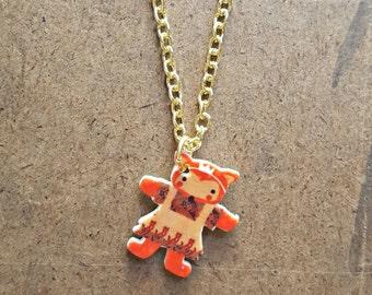 Woodland Fox Necklace | Folk Fox Jewelry | Tiny Storybook Charm | Shrinky Dink Jewelry | Cute Forest Style | Fox Princess Necklace