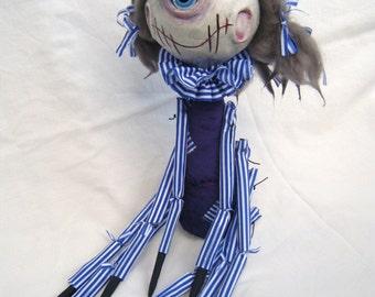 Sally Spider Ooak Whimsical Hand made Art Doll