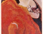 "Kees van Dongen ""The Red Dancer"" Print, Postcard -- 1969, Soviet Artist Publ."