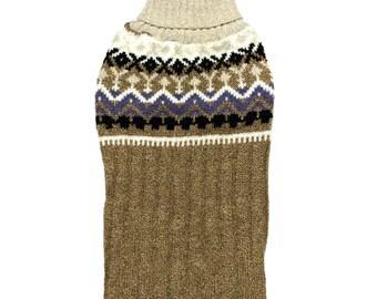 Big Dog Clothing, Designer Dog Sweater, Large Holiday Christmas Turtleneck Handmade Pet Puppy Apparel 0094