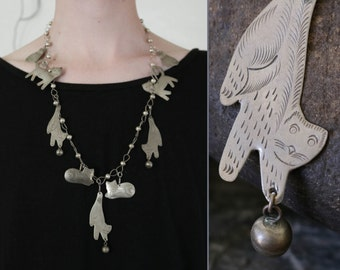 metal cat necklace