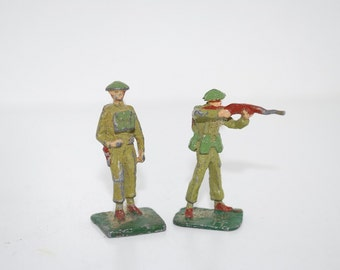 Vintage Union of South Africa Miniature Military Lead Figures - 1960's Hand Painted Toy Figures