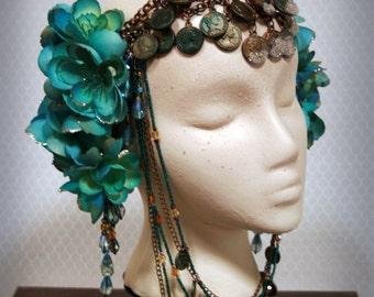 Women's Fantasy Sunken Treasure Headdress: Neptune's Daughter