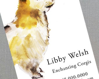 Corgi,Dog Walker,Pet Sitter,Dog Trainer,Welsh Pembroke Corgi, Business Cards - Set of 50