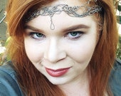 Bridal Circlet Headpiece OOAK Silver Tone Wire Wedding Crown - Great for Princess, Queen, or Goddess Costume