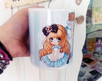 Alice in Wonderland - drink me  coffee mug