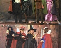 Adult Costumes for Couples; Vampire, Devil, Robin Hood, Sizes S-M-L, 2 Hour Express Simplicity Sewing Pattern 8010, FREE SHIPPING