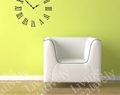 Vinyl Decal Wall Clock -  Many Color Choices