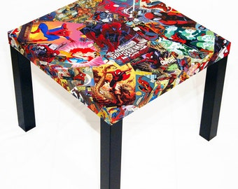 Spider-Man Comic Collage Table
