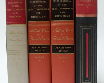 Four Vintage Red and Black Books about Classical Music, 1947-1962