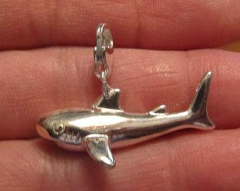 Sterling Shark Pendant