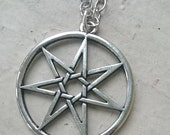 Seven Pointed Faery Star Septagram Chain Necklace - Choice of size
