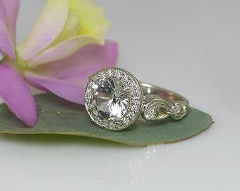 non diamond engagement ring engagement ring eco friendly wedding ring alternative engagement - Non Diamond Wedding Rings