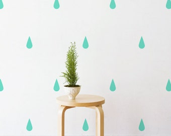 Raindrops | Removable Wall Decal & Sticker for Home, Office, Nursery | LSB0224VCC