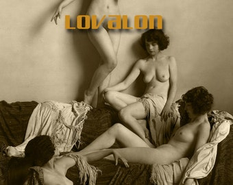 MATURE... Beauty Tableau... Deluxe Erotic Art Print... Vintage Nude Fashion Photo... Available In Various Sizes