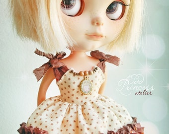 Sale!!!BLYTHE Dress CARAMEL CAPPUCCINO By Odd Princess Atelier, Shabby Chic, Hand Made, New Collection, Special Outfit